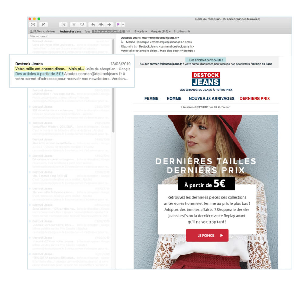 objet email marketing