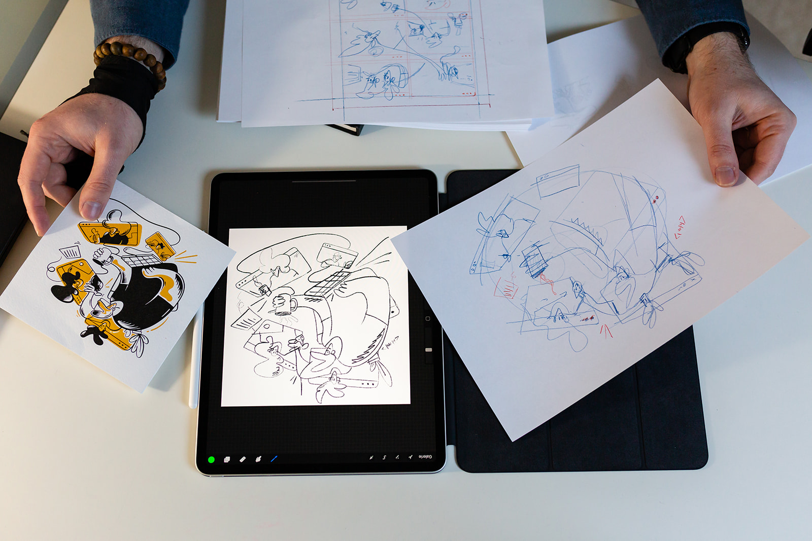 Carte voeux illustration Samuel