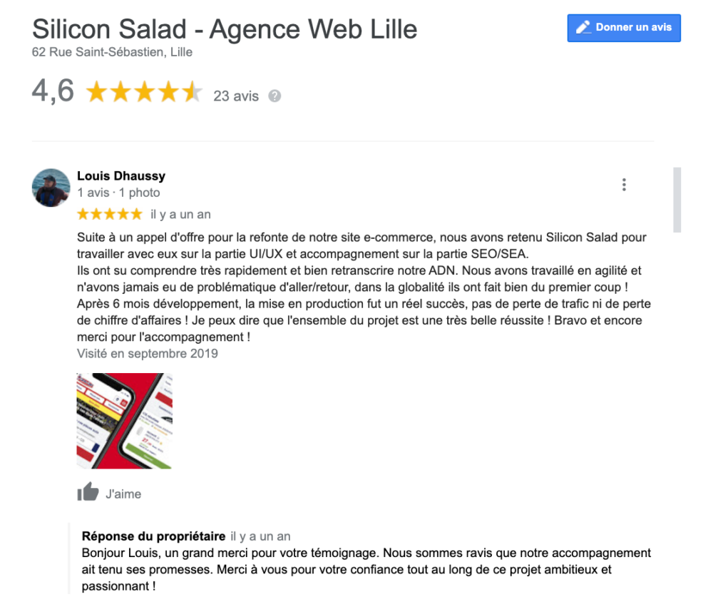 Avis Google Silicon Salad